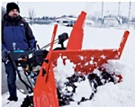 "Brand New Deluxe Track 28 Electric Start Snow Blower with 28"" Clearing Width"