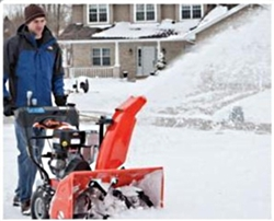 "Brand New Deluxe 24 Electric Start Snow Blower with 24"" Clearing Width"