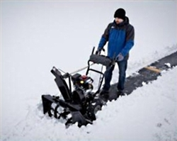 "Brand New Sno-Tek Electric Start Snow Blower with 24"" Clearing Width"