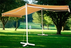 Free Standing Motorized Double Sided Retractable Awning w/ Remote Control