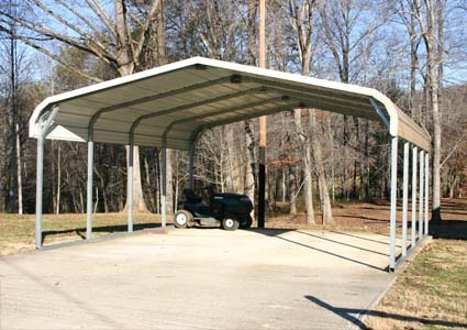 20 X 21 X 8 Steel Carport Garage Storage Building
