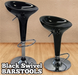 High Quality Adjustable Height Molded Bar Stools - Set of 2