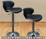 High Quality Adjustable Height Faux Leather Bar Stools - Set of 2