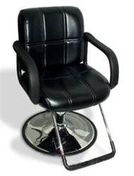 Brand New Black Leather Hydraulic Barber Chair Styling Salon Work Station
