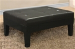 Brand New Leather Ottoman Espresso Storage Bench Coffee Table With Storage Compartment
