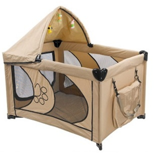 "Beige 45"" Dog Play Pen with Canopy"