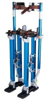 Blue Adjustable Aluminum Drywall Stilts 24&quot;-40