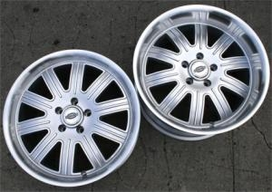 "18 x 9 / 18 x 10 Inch Silver w/ Machined Lip Automotive Rims 18"" Wh..."