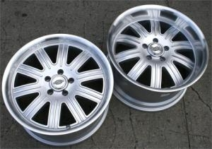 20 x 9.0 / 20 x 10.5 Inch Silver w/ Machined Lip Automotive Rims 20...