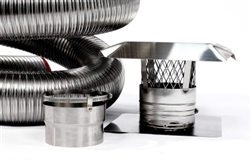 "6"" x 15' Stainless Steel Chimney Liner Insert Kit"
