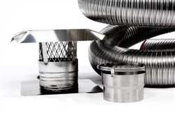 "6"" x 25' Stainless Steel Chimney Liner Insert Kit"