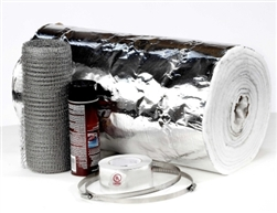 "1/4"" x 25' Chimney Liner Insulation Kit - Fits 3"" - 6"" Liners"