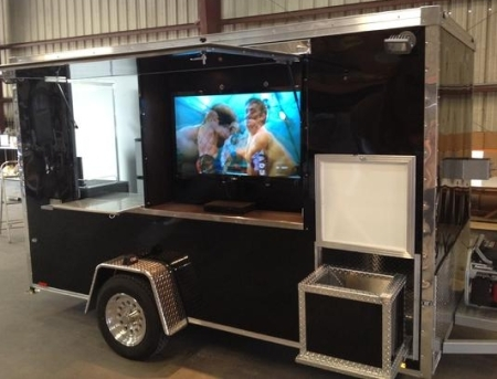 Fully Equipped 6 X 10 Tailgate Concession Trailer
