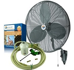 24 Quot Oscillating Wall Mount Misting Fan