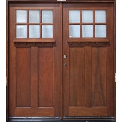Solid Wood Cherry 36 Exterior Double Door Unit