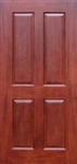 "High Quality Solid Wood Mahogany 4 Panel Interior Door - 80"" Tall"