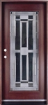 "Solid Wood Mahogany 36"" Full Light Pre-Hung Exterior Door"