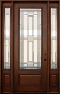 solid wood mahogany 8 39 pre hung full light exterior door