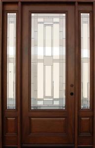 solid wood mahogany 8 39 pre hung full light exterior door