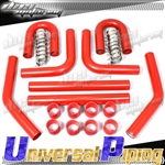 Brand New JDM Universal Turbo/Intercooler Red Piping Silicone/T-Clamp