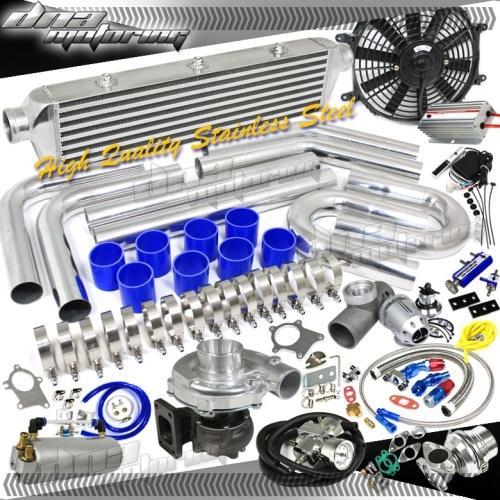 Ford Universal Turbo Kit: Brand New T3/T04E 380+HPS Universal Turbo/Charger Kit