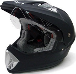Matte Black TMS Motocross Dual Sport Helmet (DOT Approved)