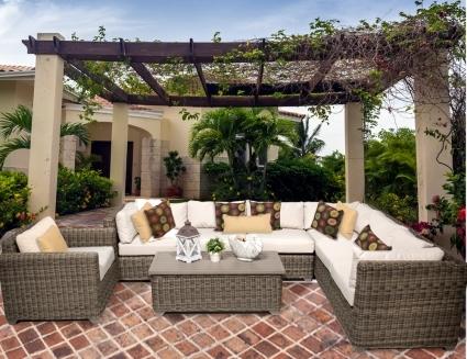 regal 8 piece outdoor wicker patio furniture set. Black Bedroom Furniture Sets. Home Design Ideas