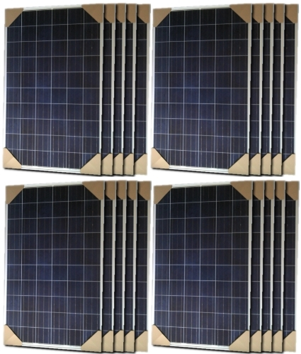 280 Watt Solar Panel - 20 Panels, 5600 Total Watts