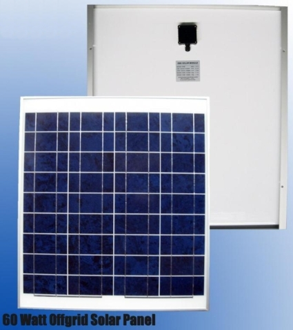 High Quality 60 Watt Off Grid Solar Panels 12v Battery