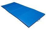 "4'x10'x2"" Folding Gym Exercise Mat - Blue"