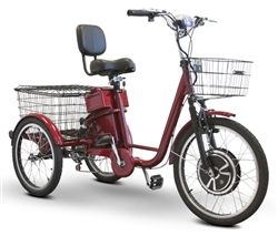 ewheels  watt adult electric powered tricycle motorized  wheel trike bicycle ew