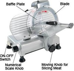 "Electric Food Meat Slicer Deli Cutter with 8"" Blade"