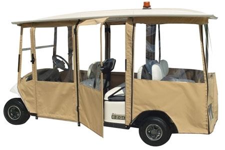 nd New EZ-GO Shuttle 6 Sunbrella Golf Cart Enclosure Sunbrella Golf Cart Enclosures on golf cart side curtains, golf cart rain curtains, golf cart convertible top,