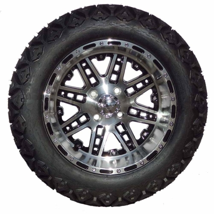 """Tire Wholesale Warehouse >> 14"""" Golf Cart Tire/Wheel Package Combo with Lift Kit. Fits ..."""