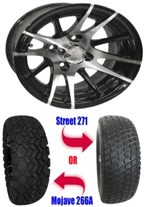 "Tire Wholesale Warehouse >> 12"" Wheel/Tire Combo Package with Lift Kit. Fits Club Car Precedent 04-Current."