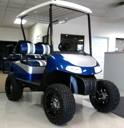 EZ-GO Golf Cart 48 Volt Rxv Blue/silver 3 Tone Seats 6