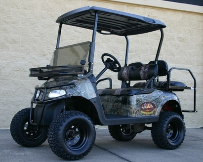 Ezgo Hunting Car Electric Camo Lifted Sasquatch 48 Volt
