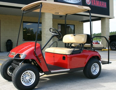 EZ-GO Red 36 Volt Electric Golf Cart on