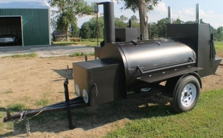 12 6 Quot Custom Bbq Reverse Flow Barbecue Smoker With Trailer