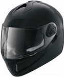 Adult Black Glossy Motorcycle Helmet (DOT Approved)