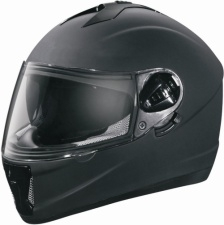 Adult Black Matte Motorcycle Helmet (DOT Approved)