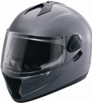Adult Black Metallic Motorcycle Helmet (DOT Approved)