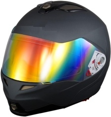 Adult Black Matte Modular Motorcycle Helmet (DOT Approved)