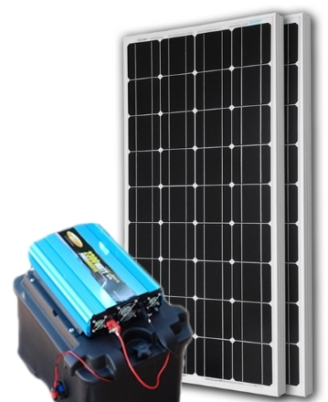 solar powered generator 135 amp 12000 watt solar generator just plug and play not a kit. Black Bedroom Furniture Sets. Home Design Ideas