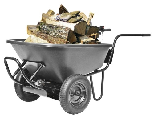 Light duty electric powered motorized wheelbarrow 6cu for Motorized wheelbarrows for sale