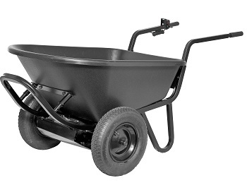 Heavy duty electric powered motorized wheelbarrow 6cu for Motorized wheelbarrows for sale