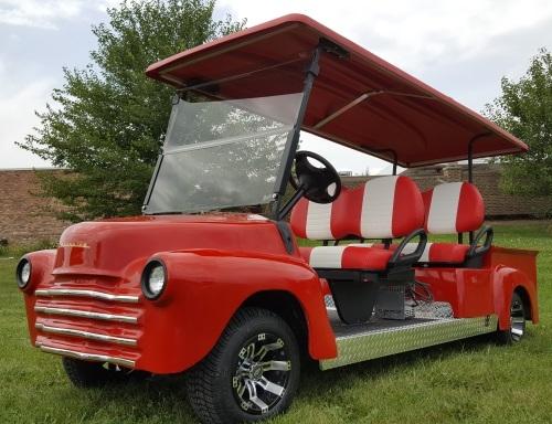 U0026 39 47 Old Truck Golf Cart 4 Seater 48v Electric Custom