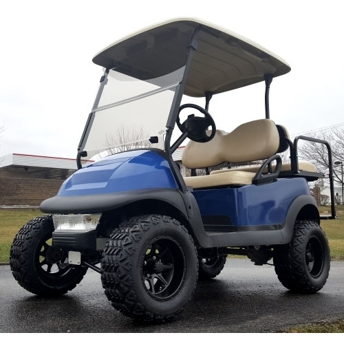 Electric Motor Kits For Golf Carts: 48V Lifted Electric Golf Cart Club Car Precedent Blue Mud