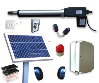 Solar Powered Ac Dc Single Swing Gate Opener Kit