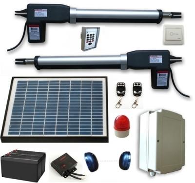 Solar Powered Gate Operator Full Kit For Dual Swing Gates